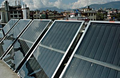 solar panel water